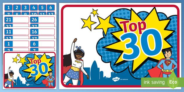 Superhero Behaviour Management Reward System - New Zealand Back to School, Top 30, reward chart, behaviour, behaviour management