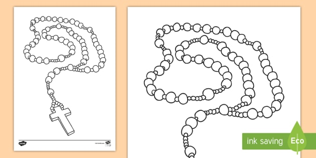 Month of the Holy Rosary Colouring Page mary god catholic
