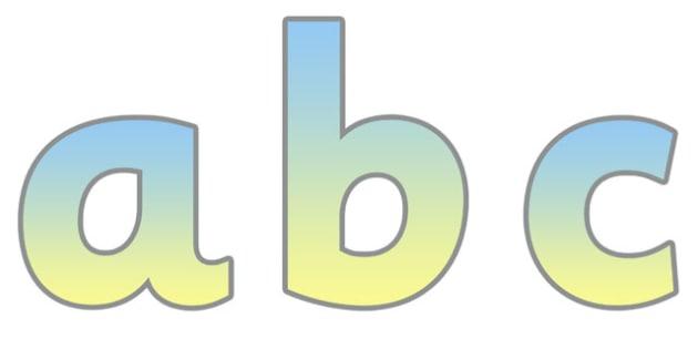 Display Lettering & Symbols - education, home school, free, abc