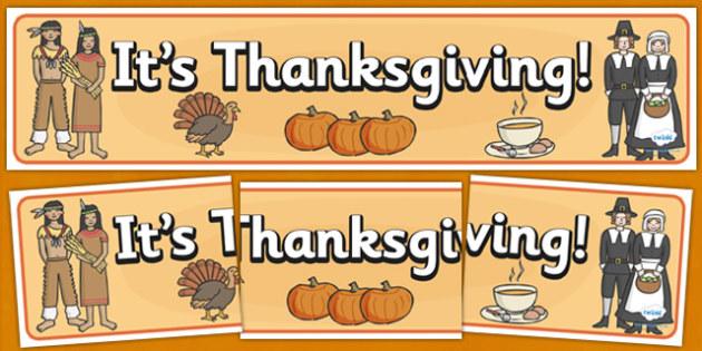 Thanksgiving Display Banner - thanksgiving, display, banner, sign, poster, pumpkin, United States, November, turkey, stuffing, family, celebration