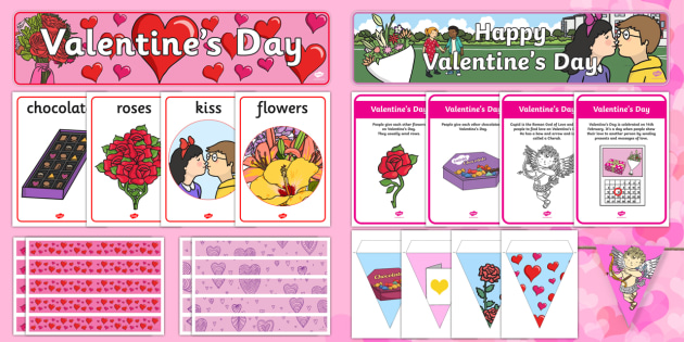Valentine's Day Display Pack - Valentine's Day,  Feb 14th, love, cupid, hearts, valentine,Australia