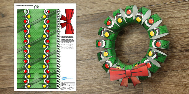 photo about Christmas Wreath Printable referred to as 3D Xmas Wreath Present Printable - 3d, xmas wreath