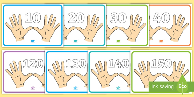 Skip Counting in 10s Display Posters