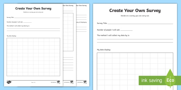 Make Your Own Graph Worksheet : Create your own survey worksheet activity sheet data