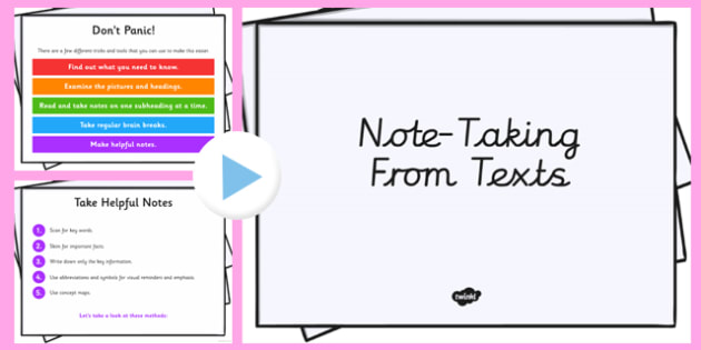 Taking Notes From a Book Presentation - note taking, reading, book, presentation, notes