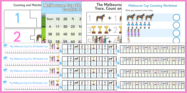 The Melbourne Cup Maths Pack - australia, melbourne cup, maths, pack