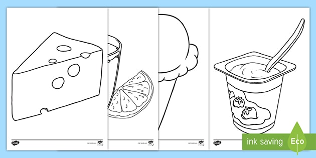 French Food Colouring Pages (teacher Made)