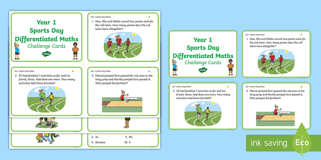 year 1 sports day maths differentiated challenge cards ks1. Black Bedroom Furniture Sets. Home Design Ideas