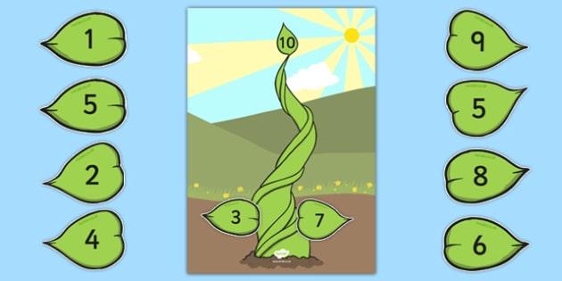 Number Bonds to 10 Beanstalk Activity - number bonds, 10, beanstalk, activity, number, bonds
