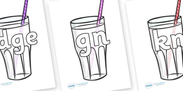 Silent Letters on Milkshakes - Silent Letters, silent letter, letter blend, consonant, consonants, digraph, trigraph, A-Z letters, literacy, alphabet, letters, alternative sounds