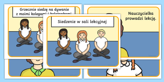 Social Situation About Sitting in Class Polish - polish, Behaviour management, self-awareness, self-calming, Autism, PSHE, SEN, social situations, social skills, story, stories