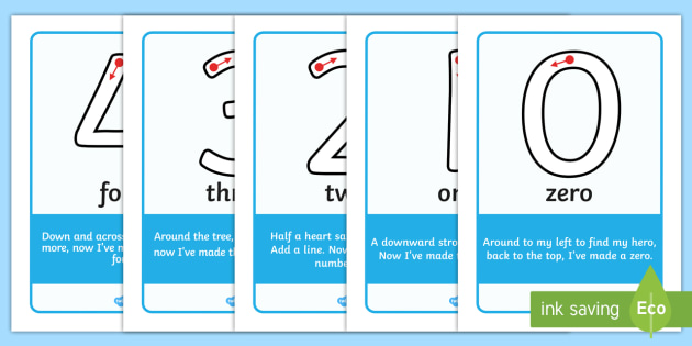 Number Formation Teaching Resources - Number Writing - Page 3