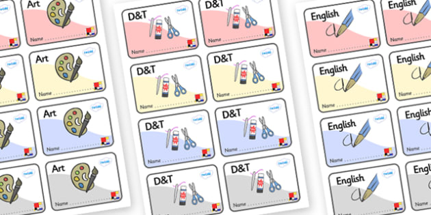 Mondrian Themed Editable Book Labels - Themed Book label, label, subject labels, exercise book, workbook labels, textbook labels