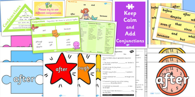 Conjunctions Resource Pack - Connectives, Conjunctions, Pack