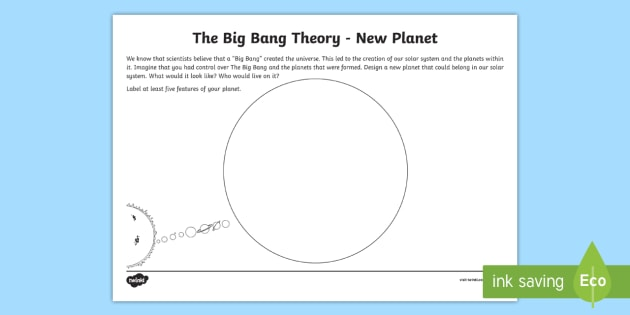 The Big Bang - New Planet Worksheet / Worksheet - Universe, Planet Earth