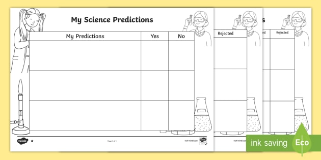Science Predictions Differentiated Worksheet Worksheets