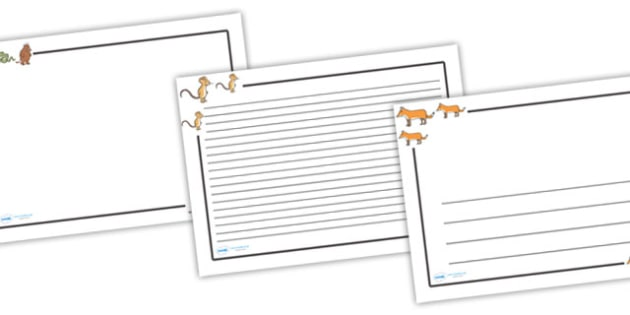 The Gruffalo Page Borders (Landscape) - page border, border, frame, writing frame, the gruffalo, gruffalo, gruffalo borders, gruffalo writing frames, writing template, writing aid, writing, A4 page, page edge, writing activities, lined page, lined pa