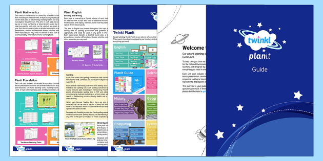 PlanIt User Guide - Information About Twinkl PlanIt