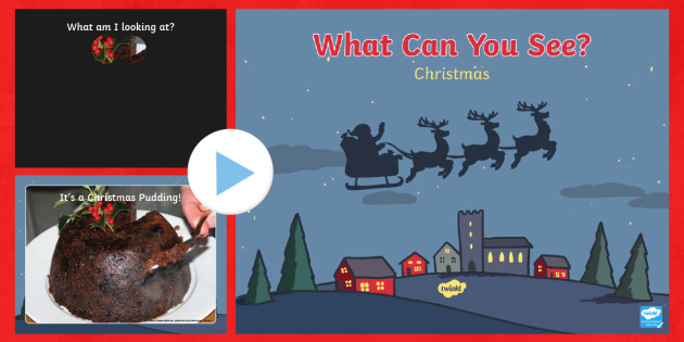 Christmas What Can You See? PowerPoint