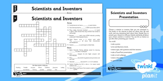 Science: Scientists and Inventors Year 6 Home Learning Tasks