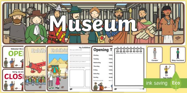 Museum Role Play Pack - museum, role play, role play pack, museum role play, resource pack, pack of resources, museum pack, museum resources, resources