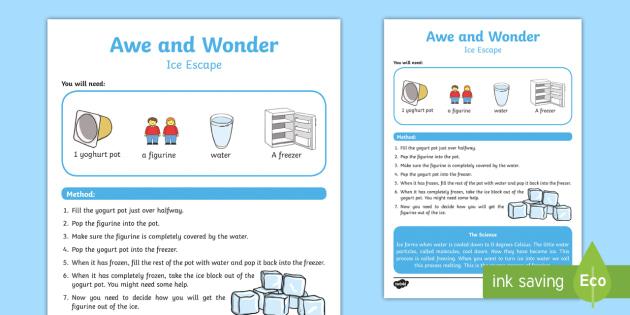 ks1 ice escape investigation activity investigations exploring the. Black Bedroom Furniture Sets. Home Design Ideas