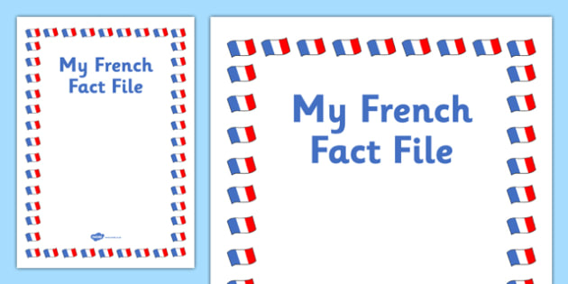 My French Fact File Template Front Cover - cfe, fact file, template, french, front cover
