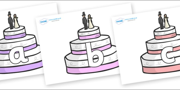 Phoneme Set on Wedding Cakes - Phoneme set, phonemes, phoneme, Letters and Sounds, DfES, display, Phase 1, Phase 2, Phase 3, Phase 5, Foundation, Literacy