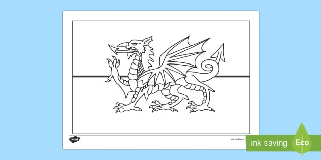 welsh flag colouring page flag colouring welsh st david
