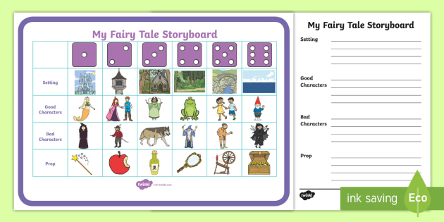 Fairytale Storytelling Prompt Dice Game