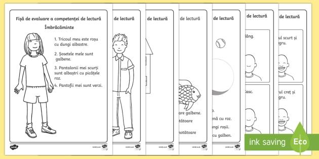 Fișe de evaluare a competenței de lectură - Nivel ridicat de dificultate