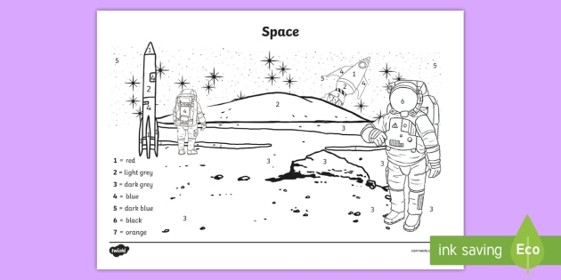 * NEW * Space Scene Colour By Number