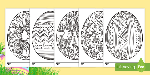 Free Easter Egg Mindfulness Colouring Pages