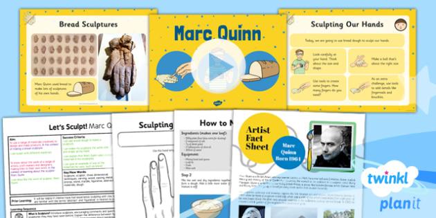 Art: Let's Sculpt: Marc Quinn KS1 Lesson Pack 1