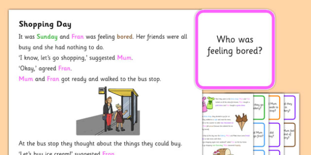 Shopping Day Question and Word Listening Story - Listening, Turn taking, Question words, Attention, Comprehension