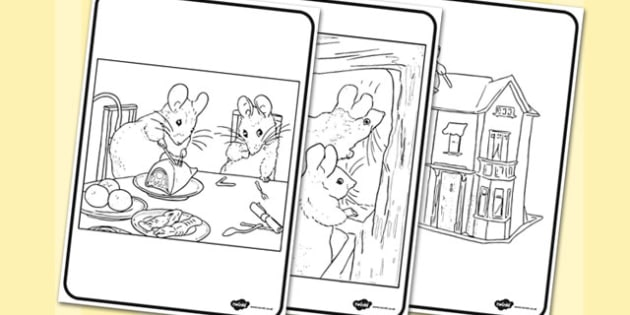 The Tale of Two Bad Mice Colouring Sheets - two bad mice, colouring