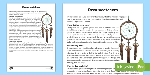 All About Dream Catchers Fact Sheet Dream Catcher Custom All About Dream Catchers