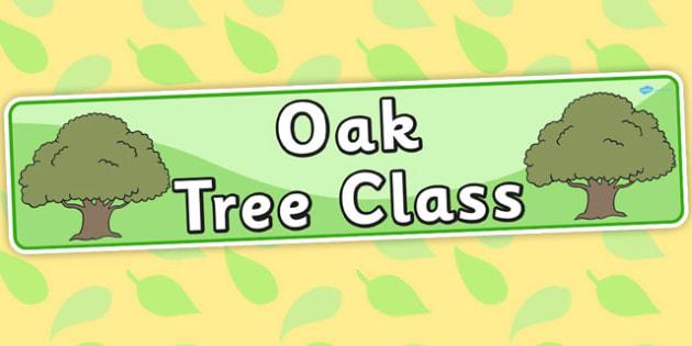 Oak Tree Themed Classroom Display Banner - trees, plants, header
