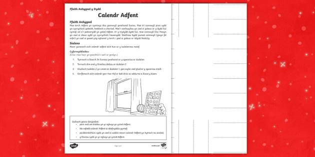 Ffaith Anhygoel y Dydd Calendr Adfent (Diwrnod 1) Taflen Weithgaredd - Christmas Wales - Welsh Medium, Nadolig, Ffaith anhygoel y dydd, diwrnod 1, datrys problem, calendr, dydd , ddydd, ddiwrnod