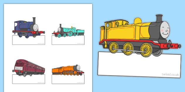 Talking Steam Train Themed Editable Self Registration - thomas the tank engine, talking steam train, self registration