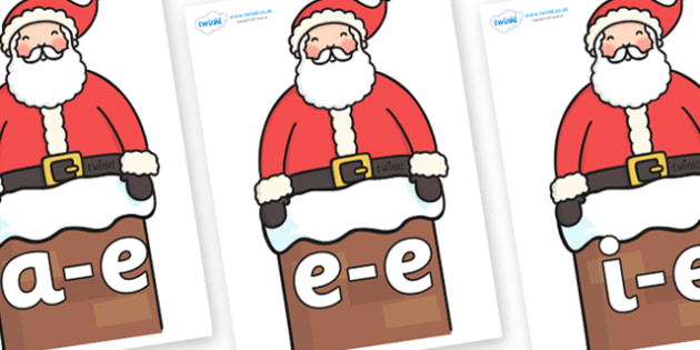 Modifying E Letters on Santa (Chimney) - Modifying E, letters, modify, Phase 5, Phase five, alternative spellings for phonemes, DfES letters and Sounds