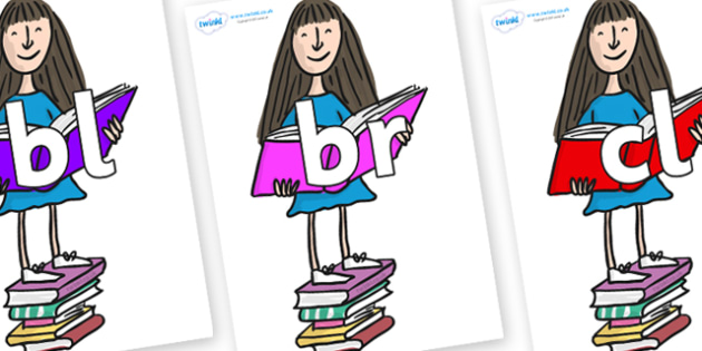 Initial Letter Blends on Matilda to Support Teaching on Matilda - Initial Letters, initial letter, letter blend, letter blends, consonant, consonants, digraph, trigraph, literacy, alphabet, letters, foundation stage literacy
