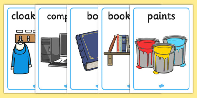 Classroom Objects Display Posters - classroom objects, display posters, display, posters