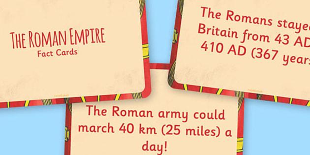 The Roman Empire Display Fact Cards - Roman, Empire, History