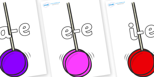 Modifying E Letters on Yoyo - Modifying E, letters, modify, Phase 5, Phase five, alternative spellings for phonemes, DfES letters and Sounds