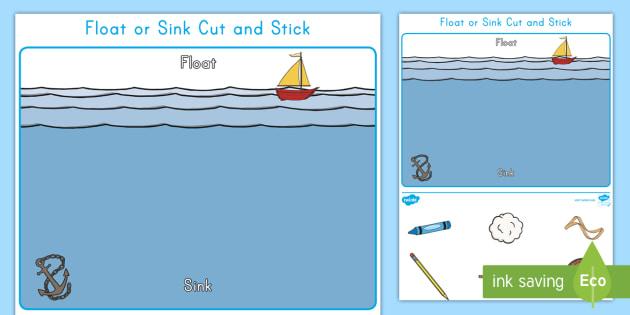 Float Or Sink Cut And Stick Worksheet Worksheet