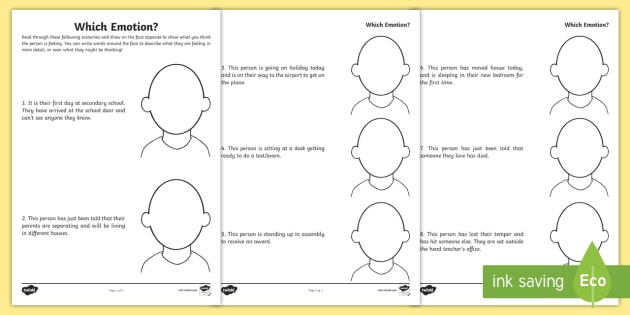 Which Emotions Worksheet - Primary Resources (teacher Made)