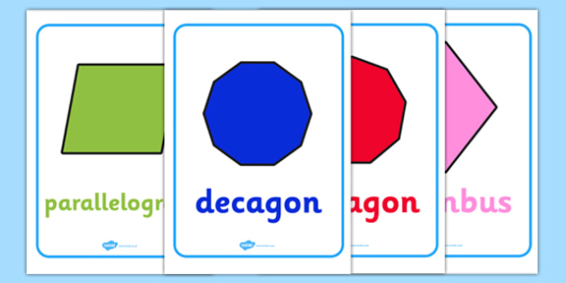 KS2 2D Shape Posters - ks2, 2d shape, posters, display, display posters, 2d, shape