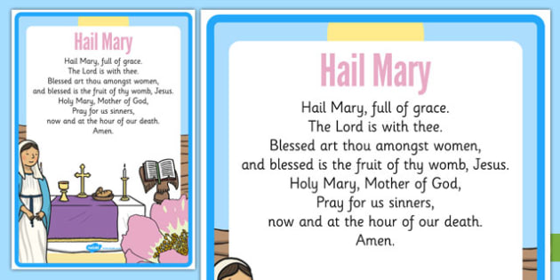 Hail Mary Prayer - Mary, Our Lady, May, Mary in May, hail mary, religion, may altar, prayer, sacred space, display