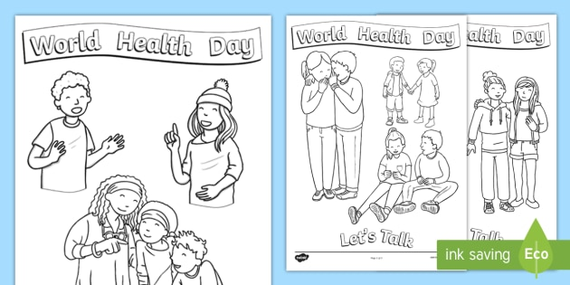World Health Day Colouring Pages - CfE World Health Day ...
